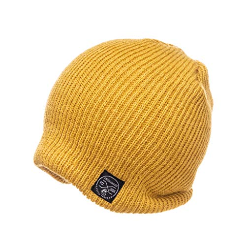 Born to Love Slouchy Beanie Hats (L, Mustard)