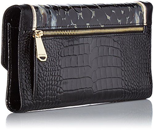 Brahmin Soft Checkbook Wallet, Black/ Carlisle,  One Size