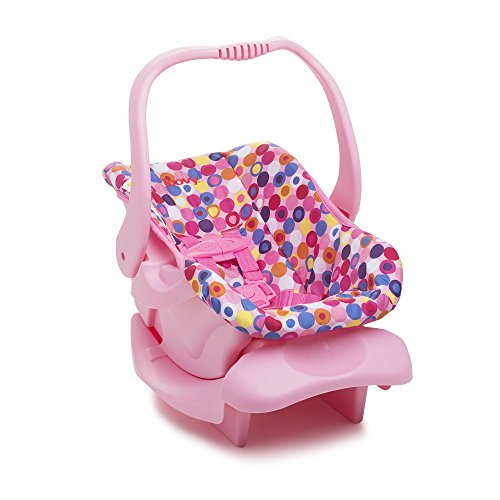 Doll Toy Car Seat - Pink Dot (Reborn Doll Clothes)