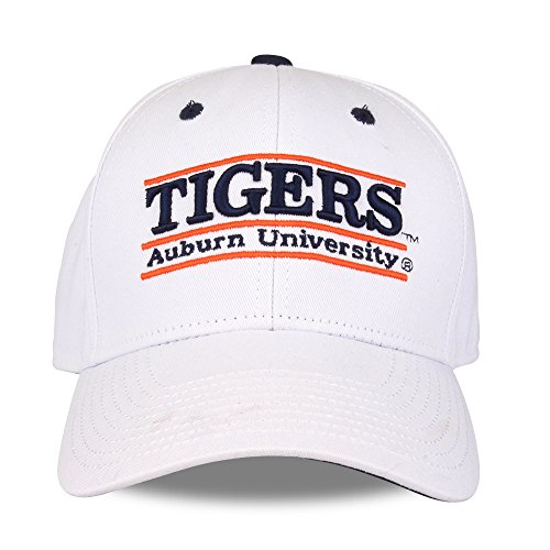 NCAA Auburn Tigers Unisex NCAA The Game bar Design Hat Tigers, White, Adjustable