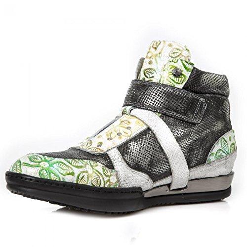 New Rock Boots M.hy032-c21 Urban Hardrock Punk Unisex Scarpe Sportive Di Sicurezza Verde
