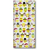 Jillson & Roberts Small Cello Bags with Twist Ties, Emoji Christmas