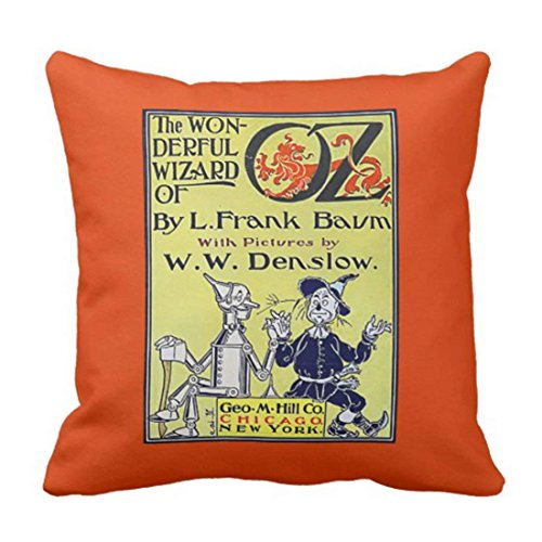 Custom Classic Vintage Wizard of Oz Book Pillowcase Cover 16x16 inch