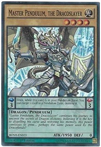 BOSH-EN023 1st - Super Rare Yu-Gi-Oh MASTER PENDULUM THE DRACOSLAYER -