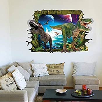 RRRLJL 3D Jurassic Park Dinosaur Wall Art Decor Home Wall Decal Sticker For  Kids Children Room Part 74