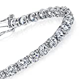 3mm Traditional Classic Brilliant Cut Round CZ Diamond Tennis Bracelet on 925 Solid Sterling Silver