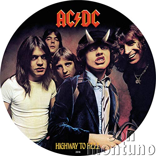 Shaped Coin Silver (2018 CK HIGHWAY TO HELL - AC/DC Record Album Shaped Silver Note - Officially Licensed Huge 168 mm Coin in Album Sleeve Style Holder with Certificate of Authenticity - 2018 COOK ISLANDS $2 $2 Prooflike)
