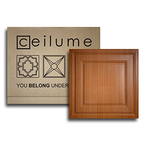 - Ceilume® Oxford Faux Wood-Caramel 2 x 2 Lay-in Ceiling Panels (Case of 6) - $4.54 Per Sq. Ft. - $18.16 Per Tile