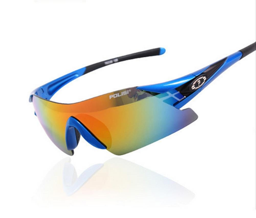 DZW Mode rahmenlose Brille Sportspiegel Reiten kann Kugeln Sonnenbrille Brille polarisierte Sonnenbrille Kugeln Sonnenbrille Angeln ändern , Blau 523d44