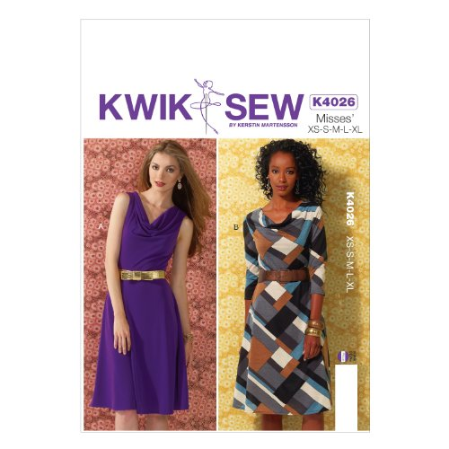 KWIK-SEW PATTERNS K4026 Misses' Dresses Sewing Template by KWIK-SEW PATTERNS