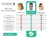 Knife Block/ Knife Holder Stainless Steel (Without Knives) by Coninx - For Safe, Clean & Organized Knife Storage - Includes LIFE TIME WARRANTY - Universal Knife Block Round