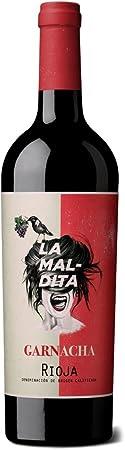 """Rioja tinto""""LA MALDITA"""" GARNACHA calificado como mejor vino joven calidad precio.(varios pack) 75cl. Envío GRATIS 24h. (pack 2 unidades)"""