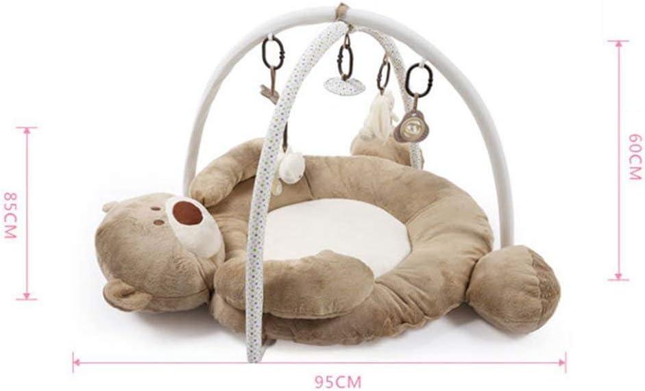 Zinsale Gran beb/é Playmat actividad gimnasio Alfombras de juego y gimnasios con juguetes y sonido Oso caf/é