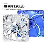 DeepCool 120mm Transparent Blue LED Case Fan XFAN 120L/B
