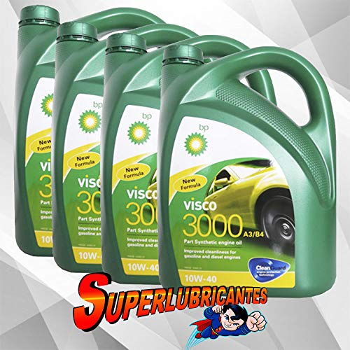BP Visco 3000 10W40 4x5L(20Litros): Amazon.es: Coche y moto