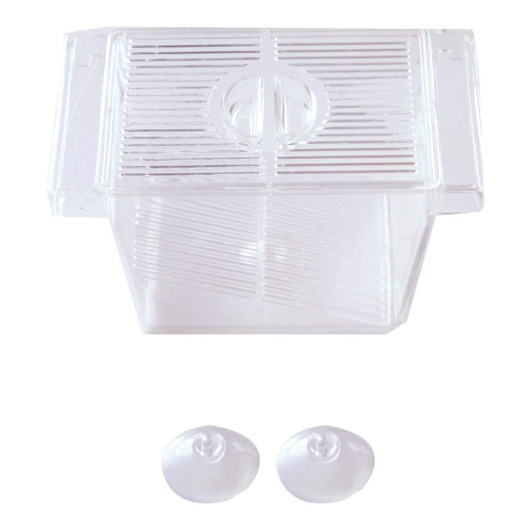 LJSLYJ Aquarium Fish Breeder Acrylic Box for Baby Fish Hatchery(Transparent)