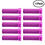Foot Solutions Super Coarse Emjoi Micro Mineral Replacement Rollers Compatible with Emjoi Micro-Pedi Callus Remover (10 Pack-Purple)