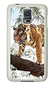 Samsung Galaxy S5 Case and Cover - Tiger To Climb The Tree PC Hard Case Cover for Samsung Galaxy S5 White