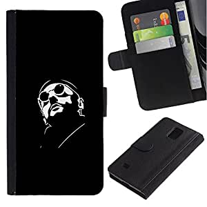All Phone Most Case / Oferta Especial Cáscara Funda de cuero Monedero Cubierta de proteccion Caso / Wallet Case for Samsung Galaxy Note 4 IV // Leon Professional Killer