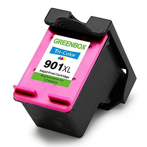 GREENBOX Remanufactured Ink Cartridge for HP 901 901XL High Yield Used in HP Officejet 4500 J4500 J4524 J4535 J4540 J4550 J4580 J4660 J4680 J4680C G510a G510g Printer (1 Black, 1 Tri-Color) Photo #7