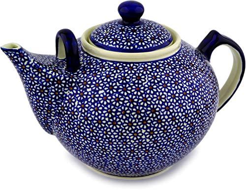 Polish Pottery 100 oz Tea or Coffee Pot (Daisy Dreams Theme) + Certificate of Authenticity