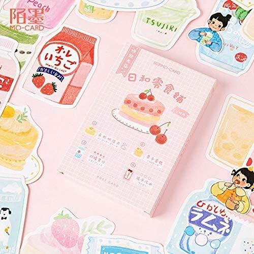 Dice 30 Blätter/Set süßes Milchtee Mädchen und Snack Shop Postkarte Geburtstag Brief Business Geschenkkarte Nachrichtenkarte, B.