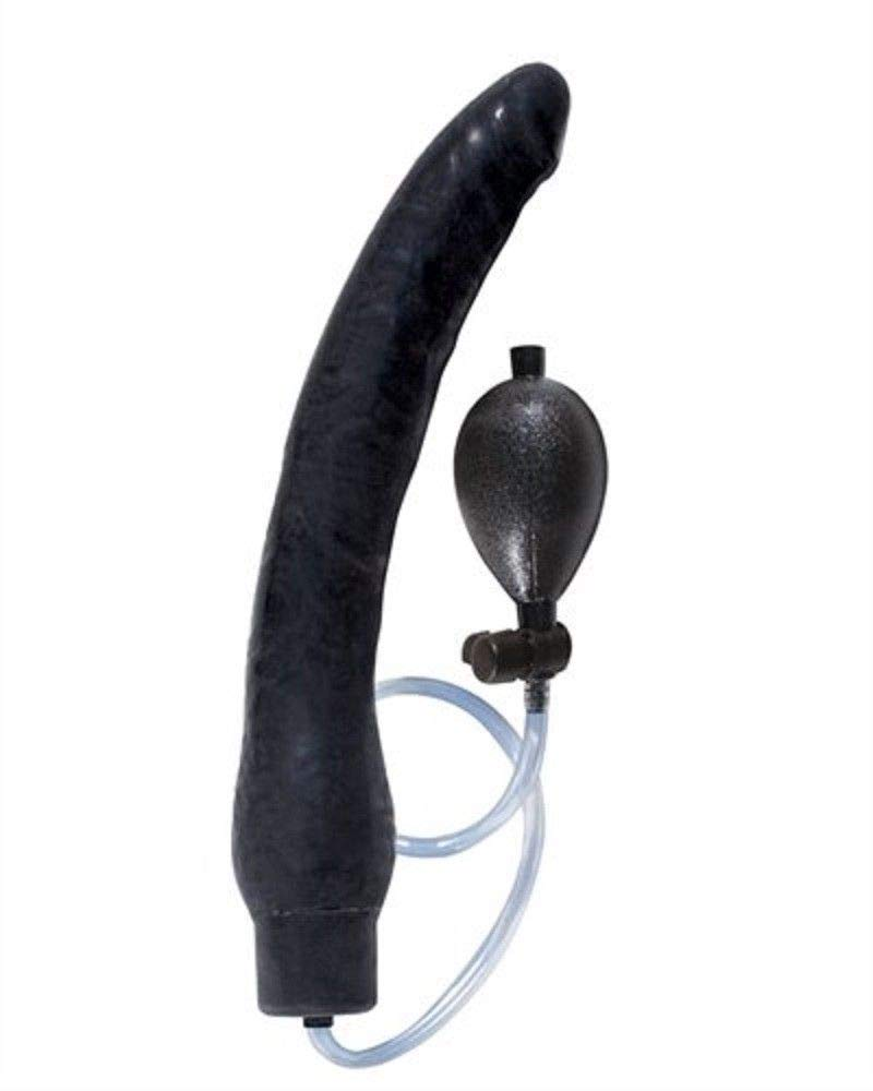 Inflatable Dong Black Adult Anal Pl-Ü'G