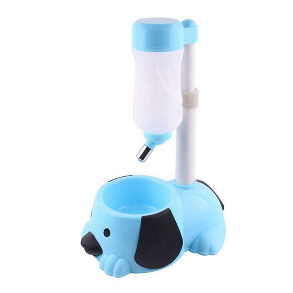 WW Pet Automatic Waterer Hanging Water Bottle Liftable Cat Dog Standing Water Dispenser Automatically Feeding Water Height Adjustable,Blue by CW&T (Image #1)