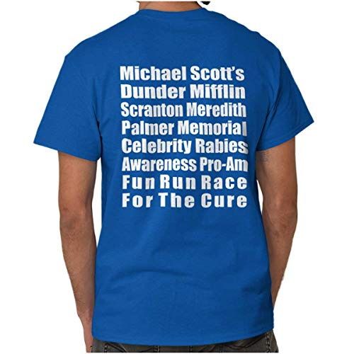 Brisco Brands Dunder Run Race Cure Funny Scranton TV Comedy T Shirt Tee (Best Cure For The Runs)