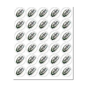 Essbare Cupcake-Deko, Rugby-Bälle, 30 Stück