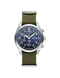 Laco 40mm Atlanta Blue Dial Chronograph Watch with 12-hour Totalizer 861919