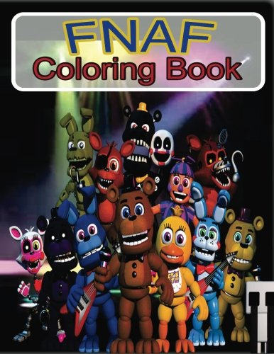 fnaf coloring book five nights at freddys coloring book color in your favorite characters buy online in oman paperback products in oman see - Fnaf Coloring Book