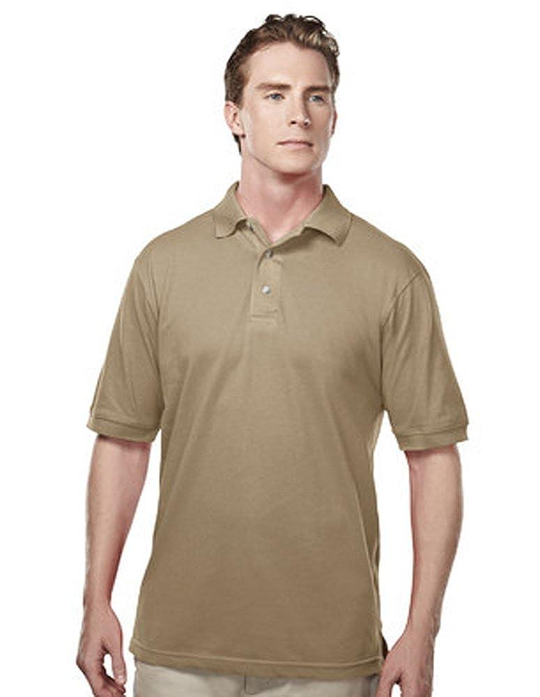 Small, Khaki Tri-Mountain Mens 095 Element S//S Polo Shirt