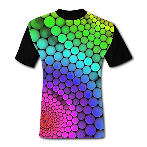 Aslgisy Summer Mens Tee,Tie Dye Spray Paint Optical Illusion Graffiti Art Casual 3D Printed Novelty Short Sleeve T-Shirt XL Black -