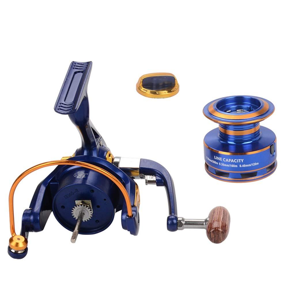 Color:Bleu Cadette,Size:6000 XXIAZHI,Moulinet Spinning Moulinet de p/êche /à poign/ée Pliable Interchangeable Ultra-Mince