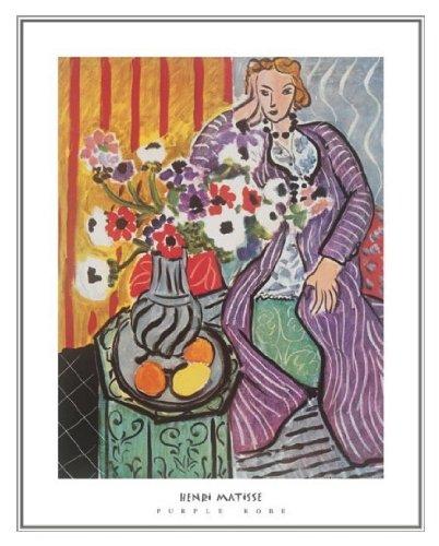 Matisse Henri Purple Robe - Henri Matisse the Purple Robe Quality Framed Art Print 22 x 28