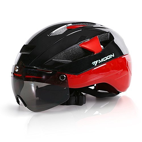 Base Camp Moon Road Bike Helmets with Removable Eye Shield Visor for Adult Cycling