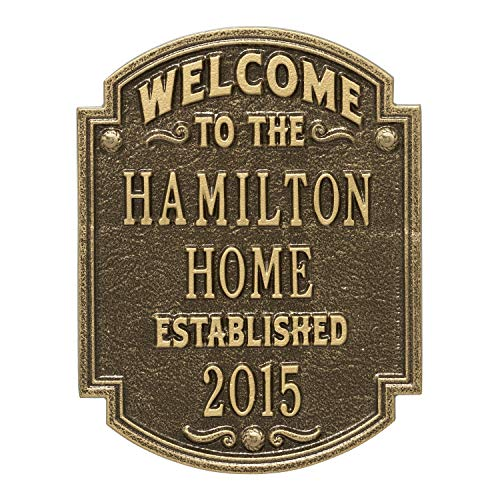 Heritage Welcome Anniversary Personalized Plaque (Antique Brass)
