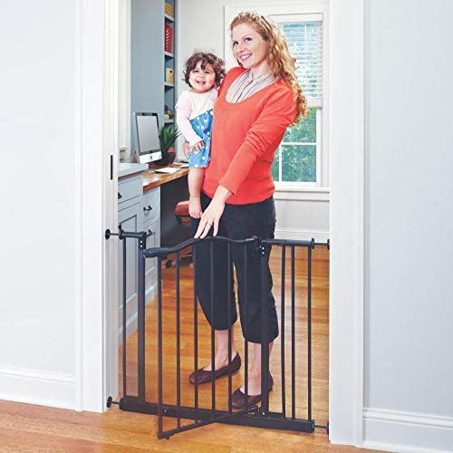 "Toddleroo by North States 38.25"" wide Portico Arch Baby Gate: Decorative heavy-duty metal safety gate with one-hand operation. Pressure Mount. Fits 28.25""- 38.25"" wide (28.5"" tall, Bronze)"