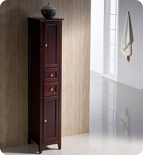 Fresca Bath FST2060MH Oxford Bathroom Linen Cabinet, Tall, Mahogany