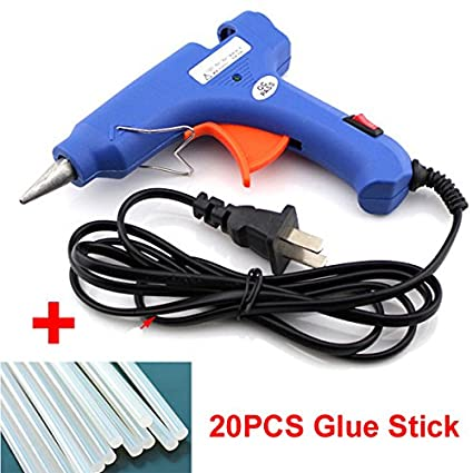 20W Hot Melt Glue Gun 7mm Glue Stick Industrial Mini Guns Thermo Electric  Gluegun Heat Temperature Tool For DIY Repairs+20PCS 100MM7MM Glue Stick