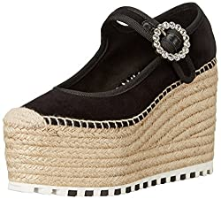 Marc by Marc Jacobs Women's Anjelica 120MM Mary Jane Wedge, Black, 37 EU/7 M US