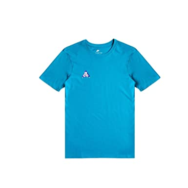 35b0bbc42 Nike Men's Sportswear ACG Volcano T-Shirt Athletic Cut Tee Teal (Small)