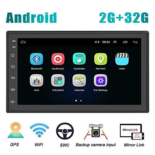 Android Coche Radio 2 Din Gps Camecho 2g32g 7 Pulgadas Pantalla Tactil Completa Bluetooth Wifi Reproductor De Radio Fm Duplicar Pantalla Para Telefonos Ios Android Camara De Respaldo