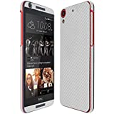 Skinomi® TechSkin - HTC Desire 626 US/626s Screen Protector + Silver Carbon Fiber Full Body Skin w/ Lifetime Replacement / Front & Back Premium HD Clear Film Ultra Invisible and Anti-Bubble Shield