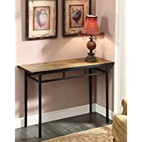 4D Concepts Sofa Table with Slate Top, Metal/ Slate