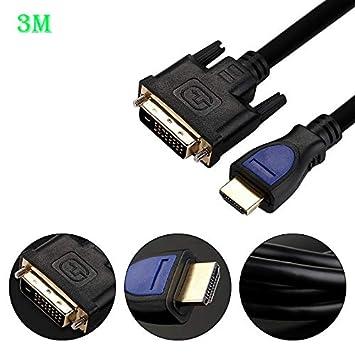 ACHICOO - Cable Adaptador de HDMI a DVI para proyector de HDTV y ...