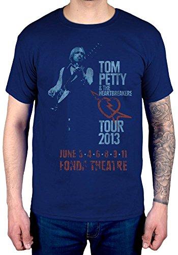 Official Tom Petty Fonda Theatre T-Shirt Navy ()