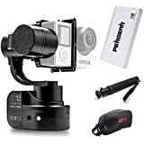 Zhiyun Rider-M Wearable 3-Axis Brushless Handheld Gimbal Stabilizer for Gopro Camera - Brushless Servo Motor, Wireless APP/Bluetooth Remote Control, Hand Adjustable Angle and 3.5mm AV Output Port