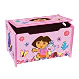 Nick Jr. Dora the Explorer Wooden Toy Box Organizer